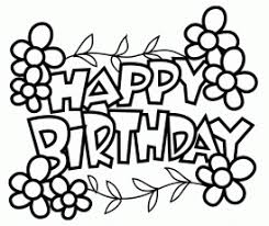 printable coloring happy birthday cards with birthday coloring