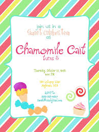 Party Invitation Card Design Gorgeous Sweet Shop Candyland Birthday Party Invitation Card