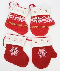 knit and mitten ornaments ornaments
