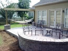 Cost Paver Patio New Paver Patio Cost And Seating Wall 93 Paver Patio Cost Diy
