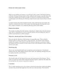 business plan format free small business plan template sample
