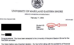 your student id number