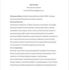 Branding Statement For Resume Download Certified Writer Resume Haadyaooverbayresort Com