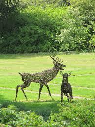 garden decor elegant decoration for garden areas with deer willow