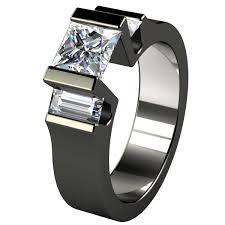 black titanium wedding bands black wedding rings for women with style rikof