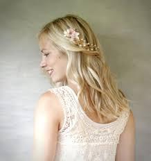 boho hair accessories mini bridal floral hair vine ivory and blush bridal hair
