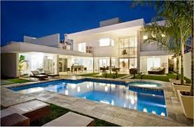 house with pool modern house with pool home design