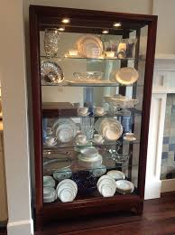 All Glass Display Cabinets Home All Glass China Cabinet 5884