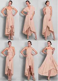high low bridesmaid dresses convertible dress chiffon high low a line bridesmaid dress b1wb0021