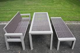 public bench contemporary aluminum stainless steel comfony
