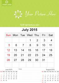 july 2015 calendar template vector free 123freevectors