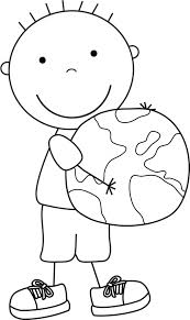 coloring pages happy boy color pages for kids earth day boys