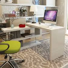 white high gloss siena rotating computer desk furniturebox