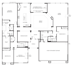 one level floor plans house plan one story with two master bedroo pict of