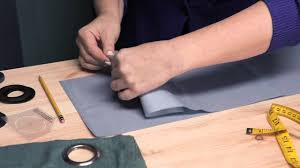 How To Make Grommet Top Curtains How To Make Eyelet Curtains Making Modifying Curtains Youtube