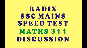 radix ssc mains maths speed test 311 discussion class youtube