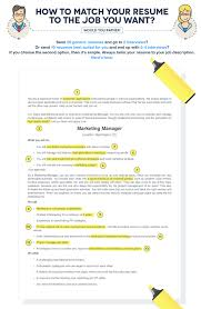 Adjectives For Resume 6 Tips To Help You Tailor A Resume To The Job Description
