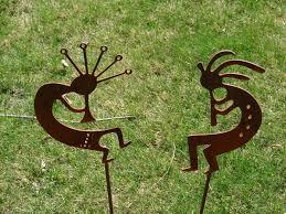 metal dancing kokopelli garden stake yard decor