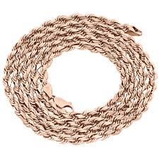 rose gold rope chain bracelet images 10k rose gold diamond cut solid rope chain 3mm twist shiny jpg