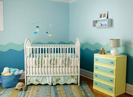 Baby Boys Nursery Room Paint Colors Theme Design Ideas Seaside - Baby boy bedroom paint ideas