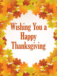 wishing you a happy thanksgiving card birthday greeting cards