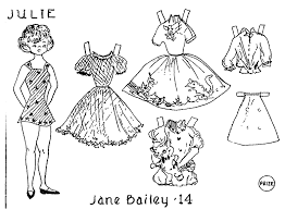 mostly paper dolls aunt elsie paper doll coloring contest 1960