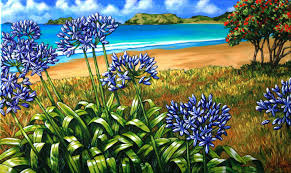 native plants of nz caz novak new zealand artist pacifica coastal nz art