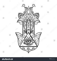 vector drawing hamsa all seeing stock vector 497755111