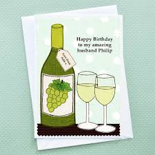 birthday drink wine personalised birthday card u0027wine u0027 by jenny arnott cards u0026 gifts