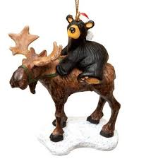 big sky bearfoots moose ornament b5070008