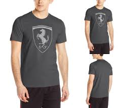 ferrari clothing puma men u0027s ferrari big shield tee t shirt moonless night grey