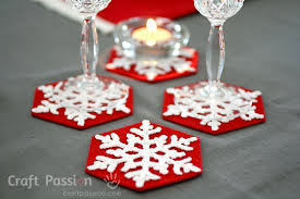 snowflakes coasters free crochet pattern craft