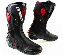 fashion motorcycle boots riding tribe microfiber leather motorcycle boots pro biker speed