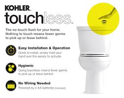 Kohler Comfort Height Round Toilet Kohler Cimarron Touchless Comfort Height 2 Piece 1 28 Gpf Round