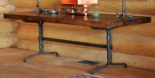 decor salvaged wrought iron table legs for furniture decor ideas