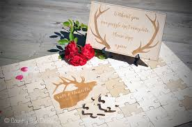 wedding guest book wedding guest book puzzle