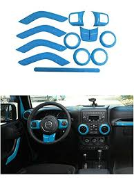 baby blue jeep wrangler opall set interior decoration light blue trim kit for jeep