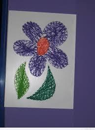 flower string art diy easy kids crafts summer simple flower string