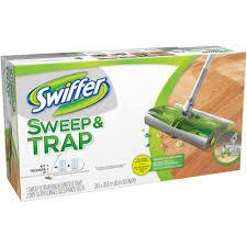 Swiffer Products For Laminate Floors Swiffer Sweep U0026 Trap Starter Kit Walmart Com