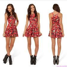 popular red skater style dress buy cheap red skater style dress