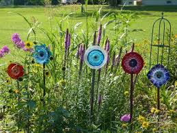 recycled glass for gardens recycled plate flowers free