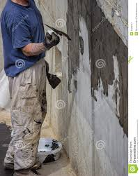 exterior basement wall waterproofing 2 stock image image 42258157