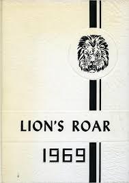 view high school yearbooks lion s roar yearbook of the junior high school 1969