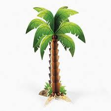 foam palm tree centerpiece toys