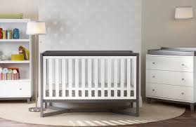 convertible crib with changing table attached natural u2014 recomy