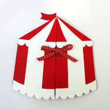 custom circus invitations circus tent invitation folder circus carnival or side show