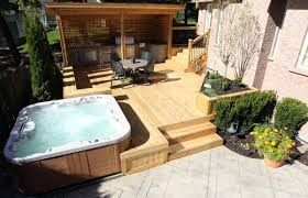 Pergola And Decking Designs by Exterior Design Luxury Bullfrog Spas For Contemporary Outdoor Tub