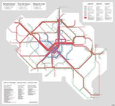 Seattle Link Rail Map New York U0027s Commuter Rail Network Overlaid On Belgium 2028 X 786