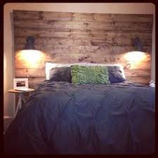 Cool Wood Headboards by With Reclaimed Wood Headboard Wall Lamp For The Home Pinterest
