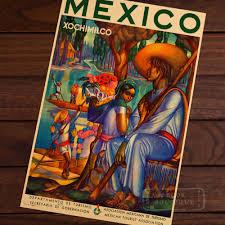 Cheap Retro Home Decor Online Get Cheap Vintage Poster Mexico Aliexpress Com Alibaba Group
